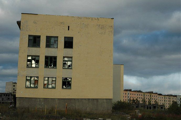 Russian dead town - stays abandoned 17