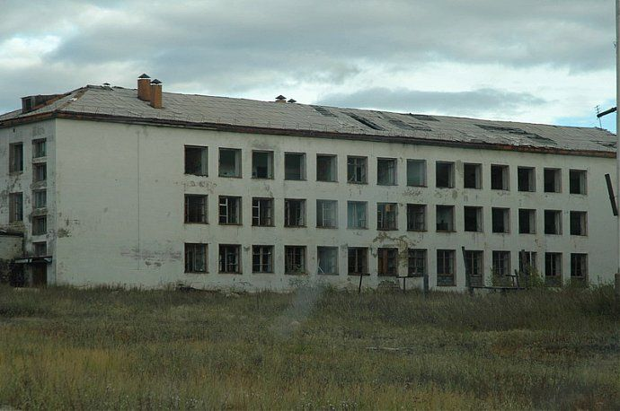 Russian dead town - stays abandoned 35