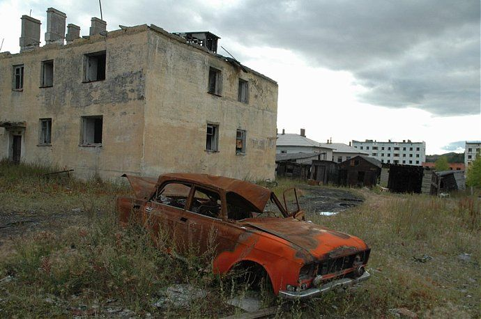 Russian dead town - stays abandoned 40
