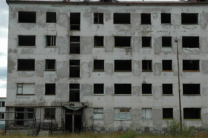 Russian dead town - stays abandoned 55