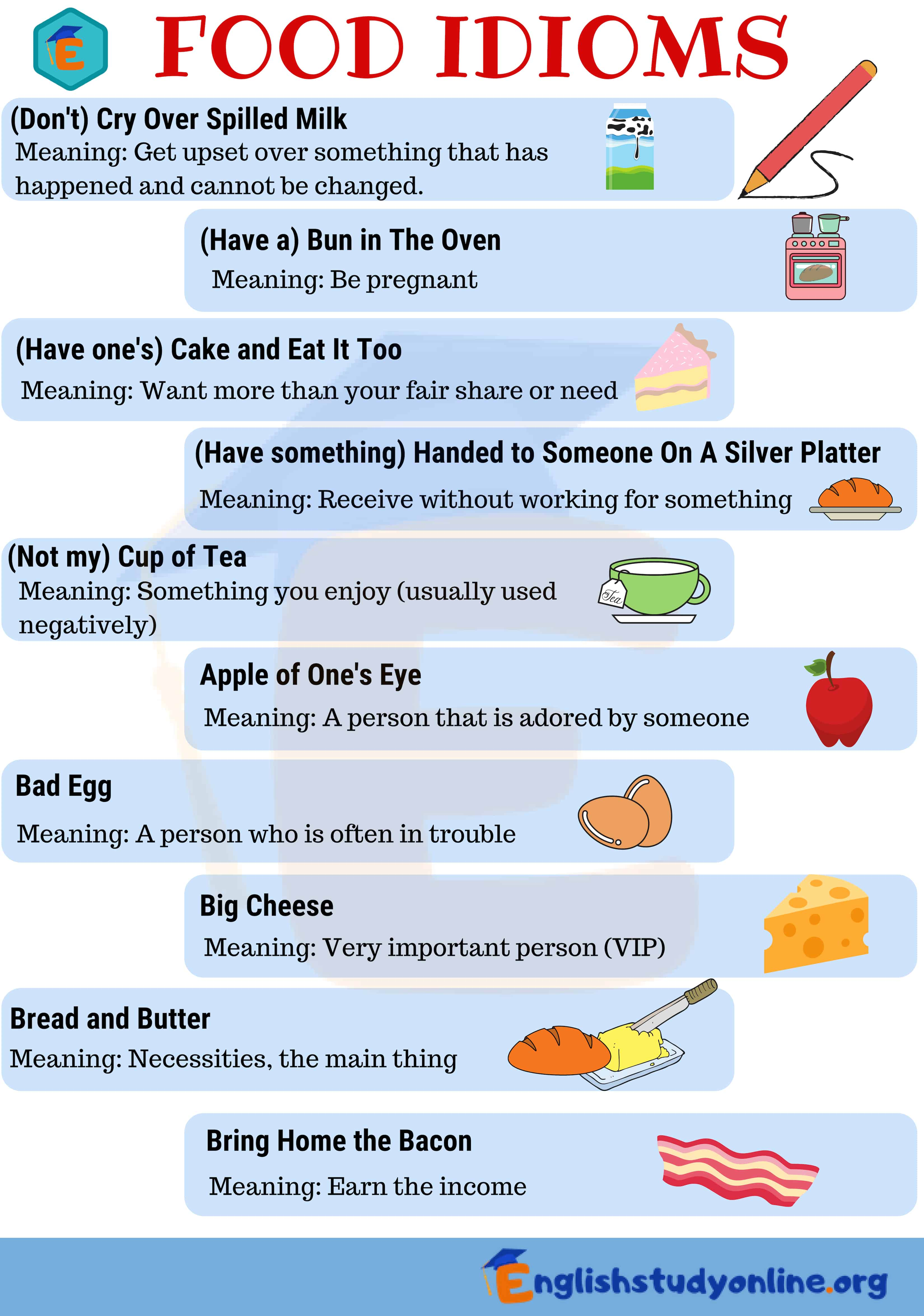 Cuisine Meaning English 35 Frequently Used Food Idioms With Meaning English