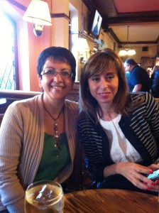 The last evening of a week's intensive course always ends in the pub. Elena and me.