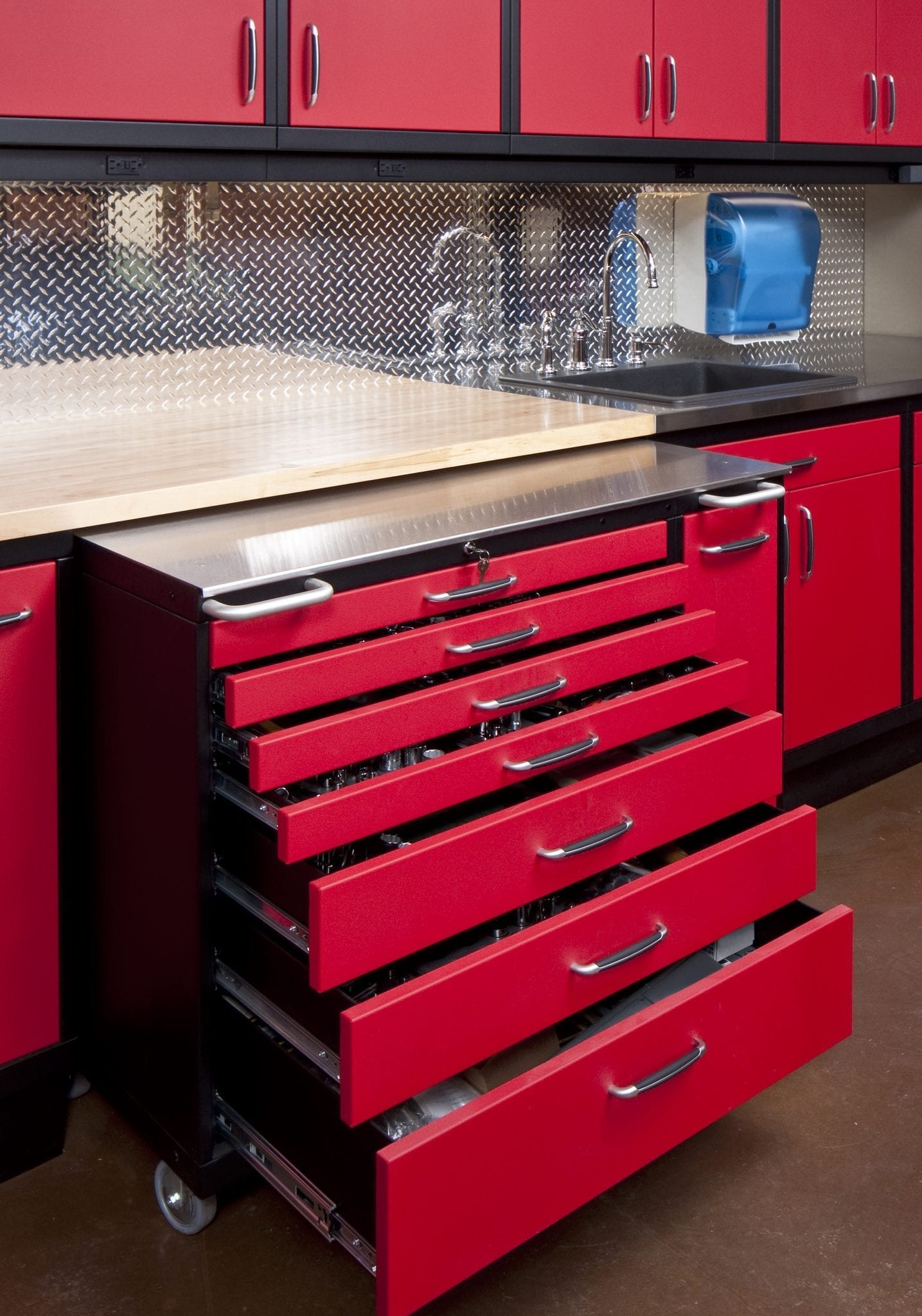 Workshop Countertop Garage Workshop Engrained Cabinetry And Countertops