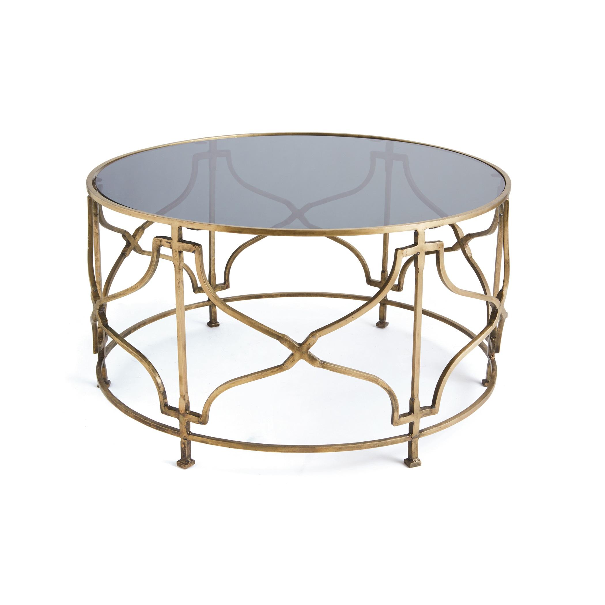 Glass Coffee Table With Gold Legs Gold Molecular Coffee Accent Table