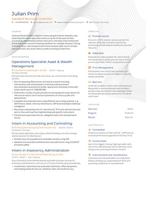 Marketing Resume Example and guide for 2019