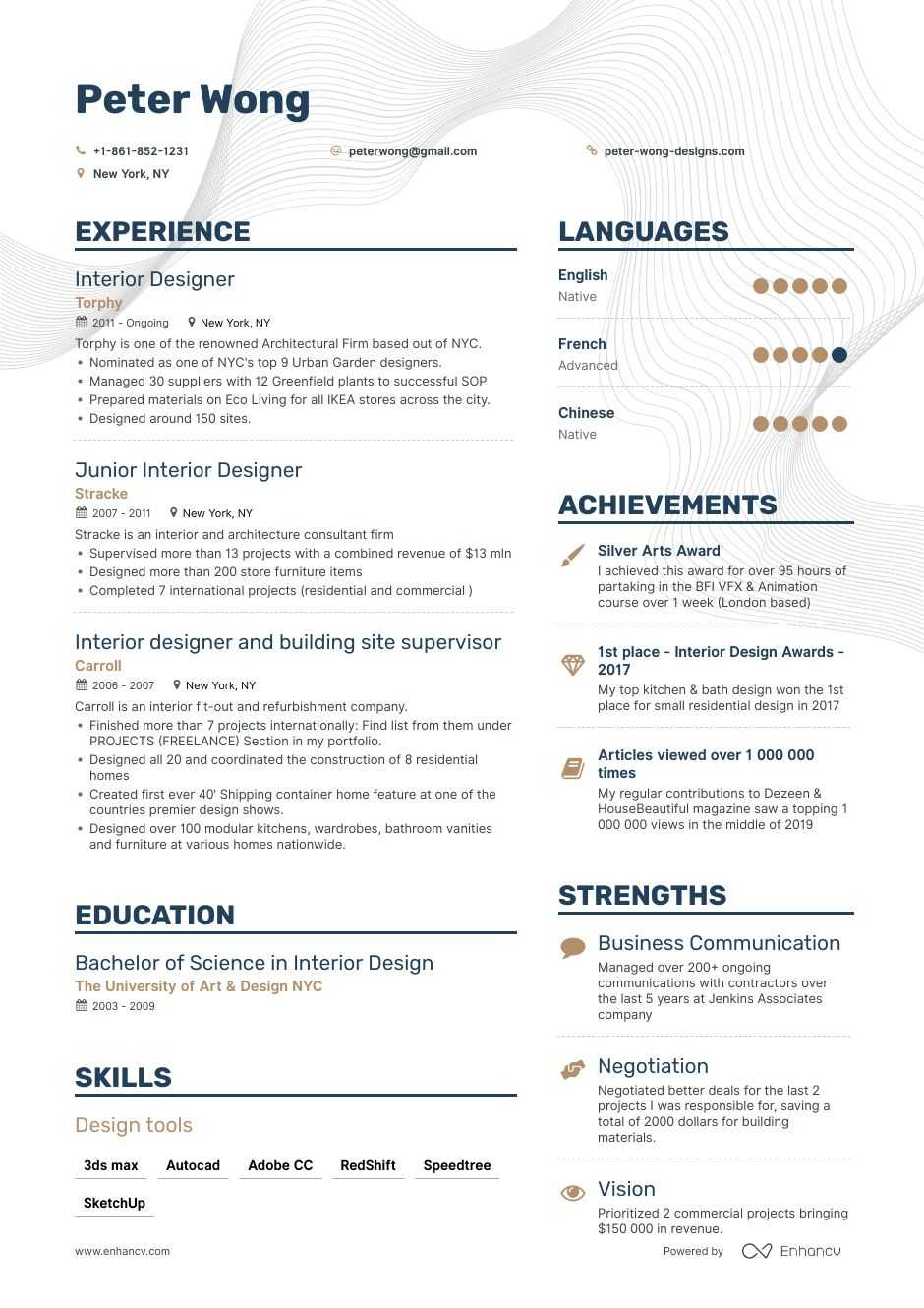resume sample for contractors