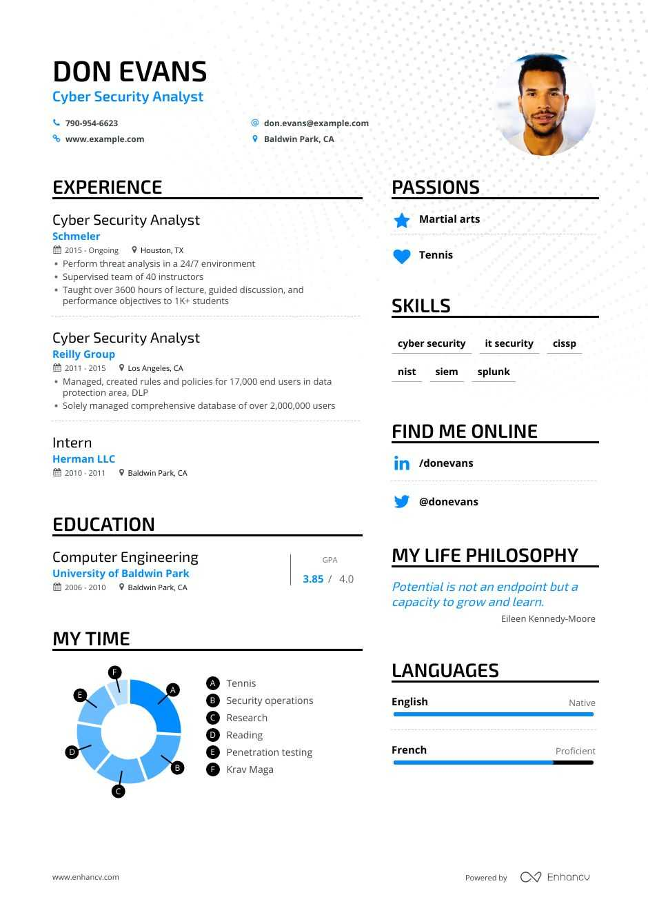 free security resume templates
