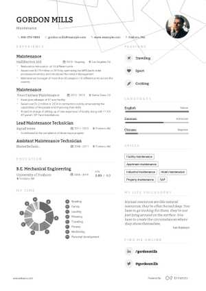 The best 2019 Maintenance and Repair resume example guide