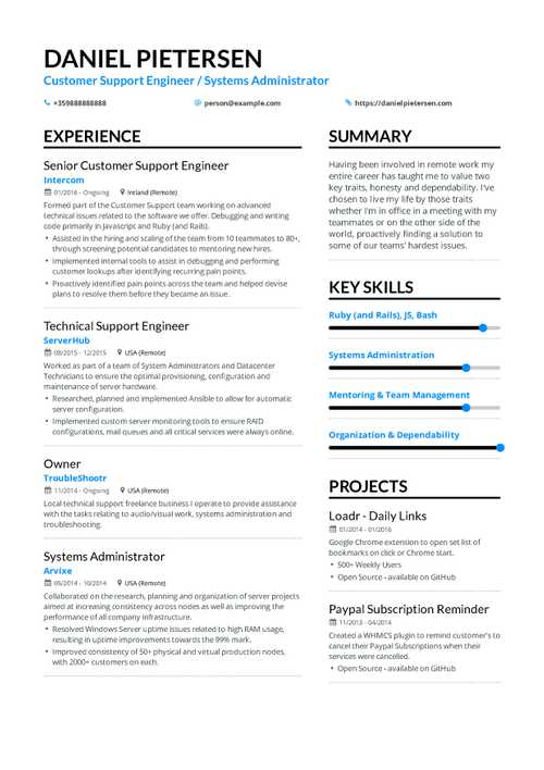 Help Desk Resume Example and guide for 2019