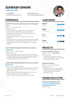 Front End Developer Resume Example and guide for 2019