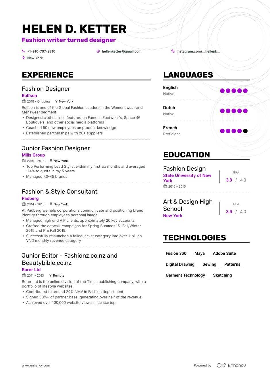 data analysis sample resume