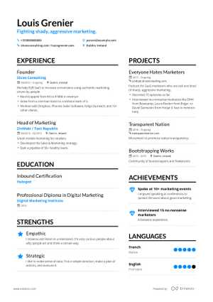 Copywriter Resume Example and guide for 2019