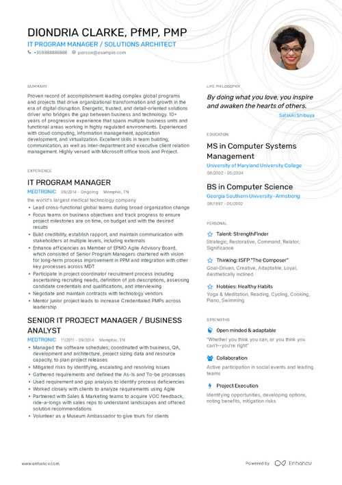 Program Manager Resume Example and guide for 2019
