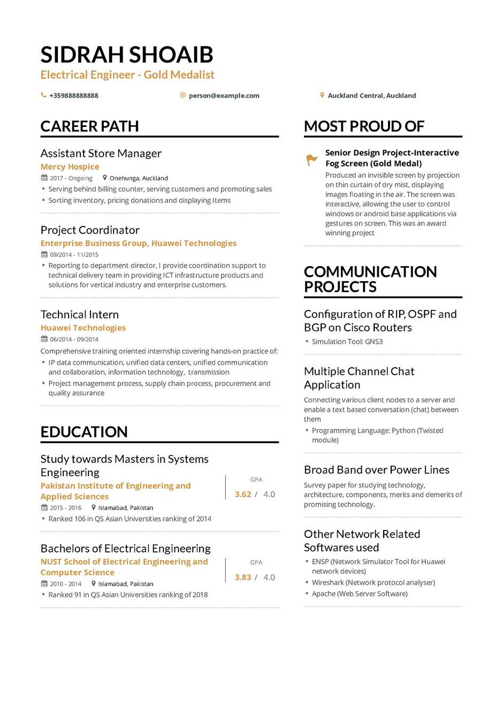 2019 engineering resume examples