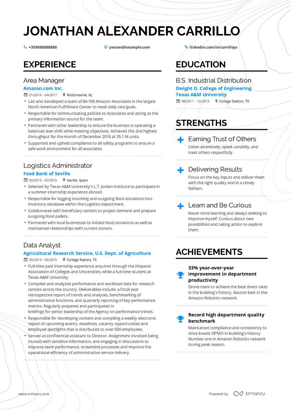 vp of operations resume template