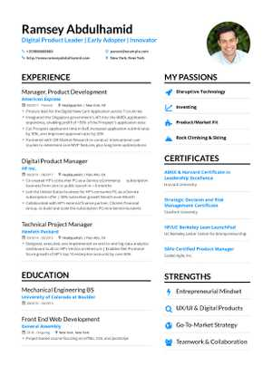 84+ Product Manager Resume Examples - Professional Great Product