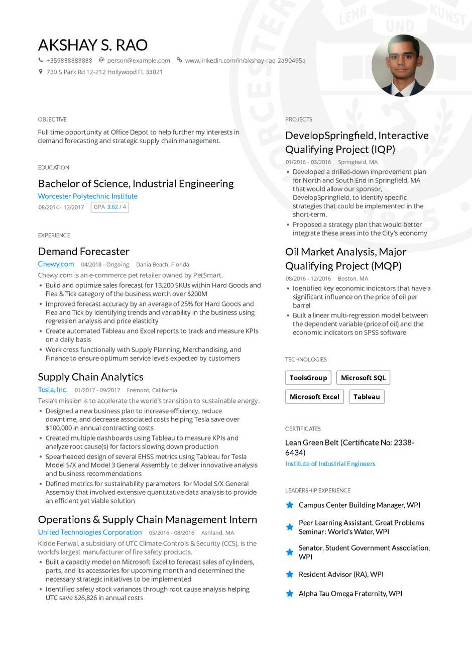 sample resume for position with treatment center
