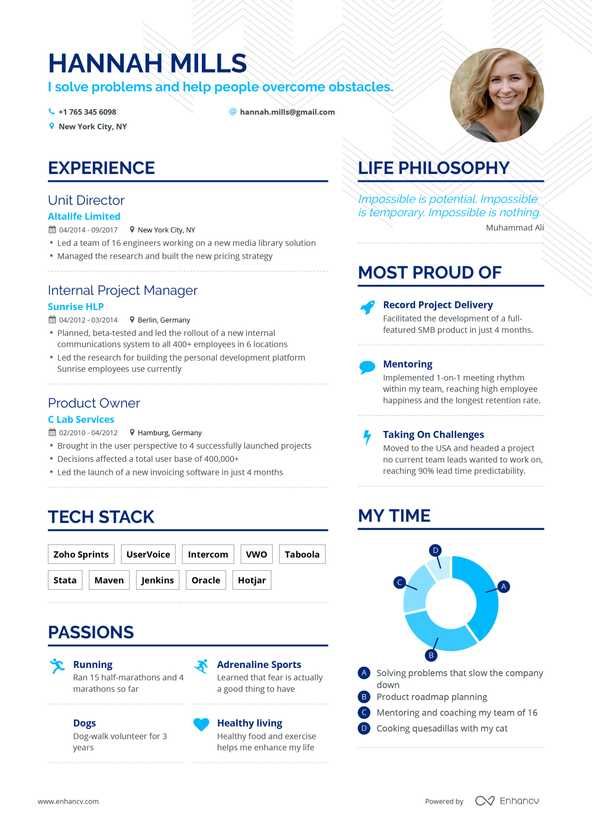 Free Resume Builder Online Resume Builder Enhancv