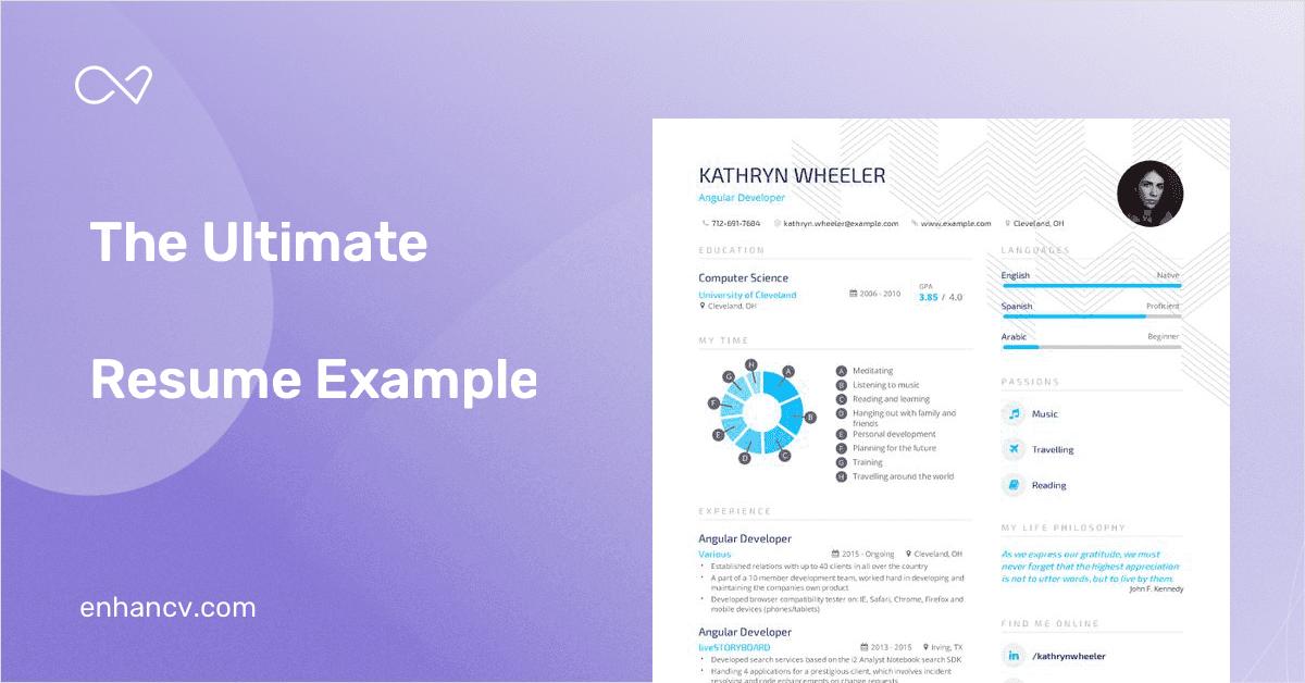 angular developer resume examples