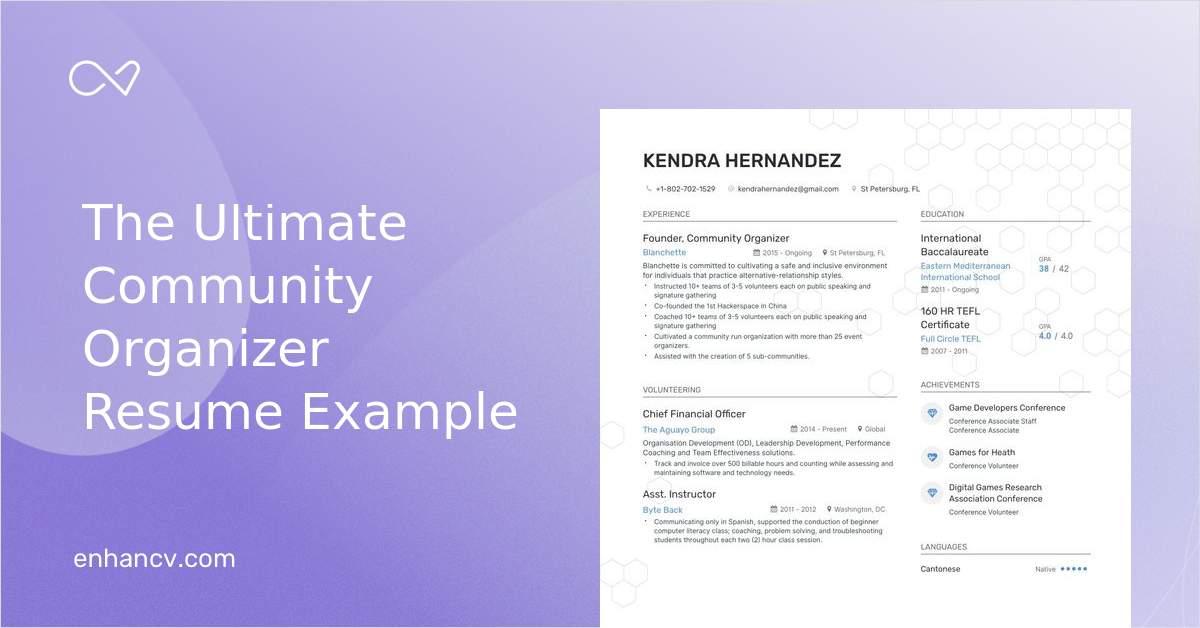 event organizer resume sample
