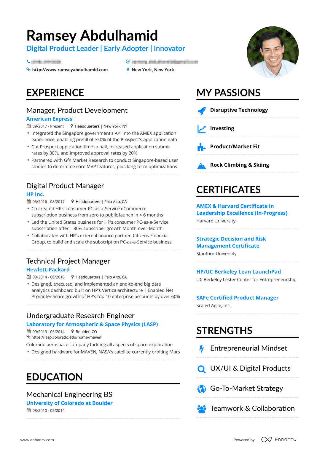 Real Product Manager Resume