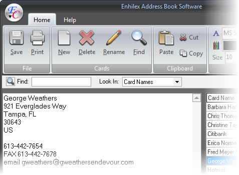 Enhilex Address Book Software - Download - software for address book