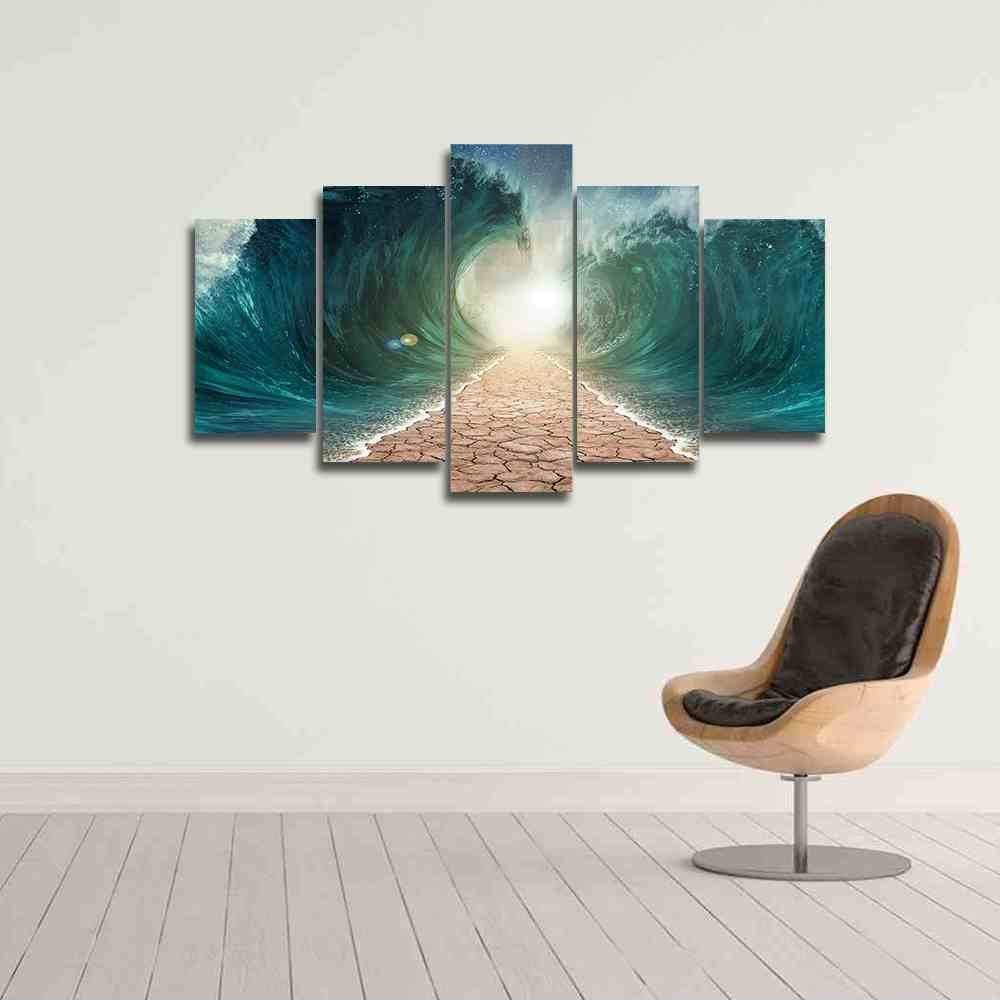 Printing Canvas Red Sea 5 Panel Canvas Prints