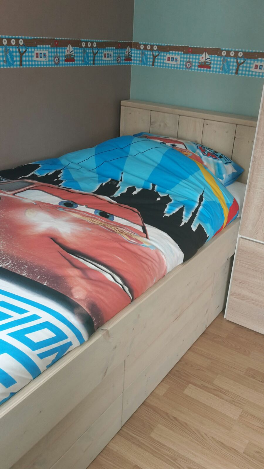 Steigerhout Bed 2 Persoons Bed Keano 1 Persoons