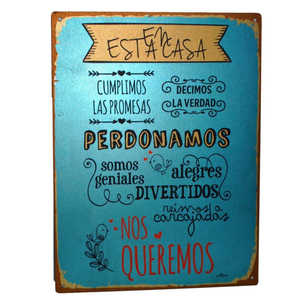Placas Metalicas Decorativas Carteles Decorativos Metálicos