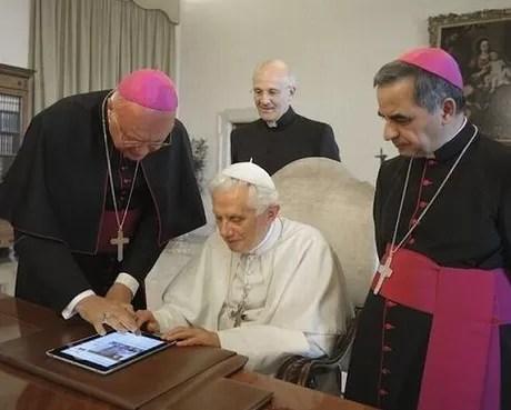 Papa con un iPad