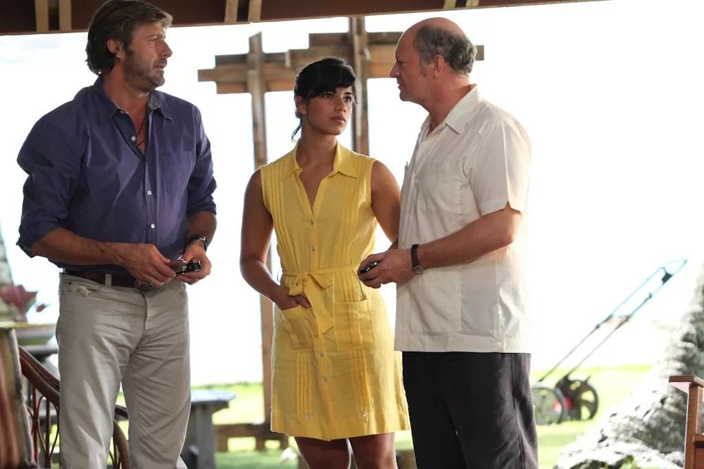 Nashla Bogaert  junto a los actores franceses Bernard Yerles  y Stephan Boucher