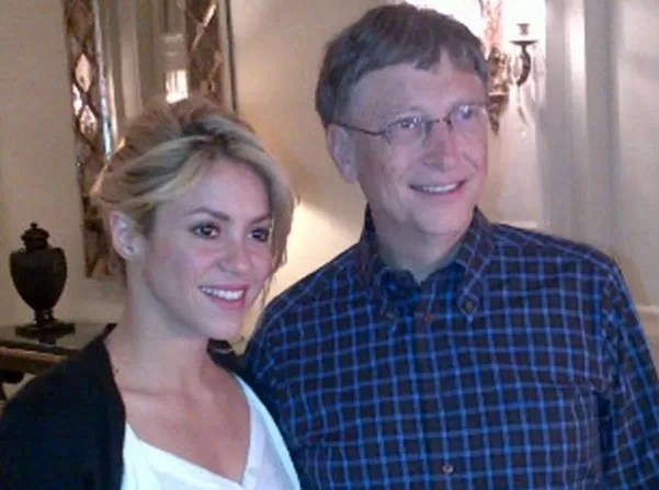 shaquira y Bill Gates