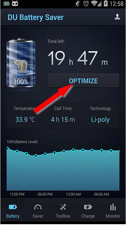 du battery saver best battery saver app for android. Black Bedroom Furniture Sets. Home Design Ideas