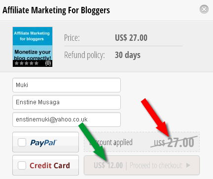 affiliate marketing for bloggers discount