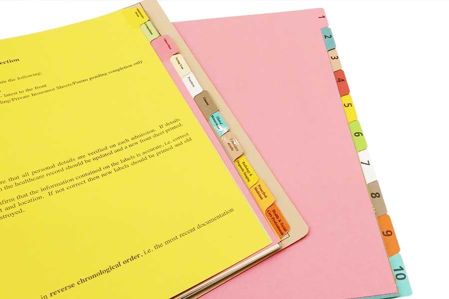 Tab Dividers ESL - folder dividers tabs