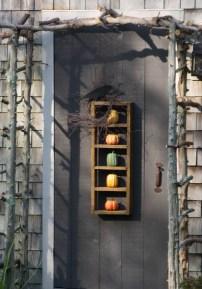 Love the pumpkin door display
