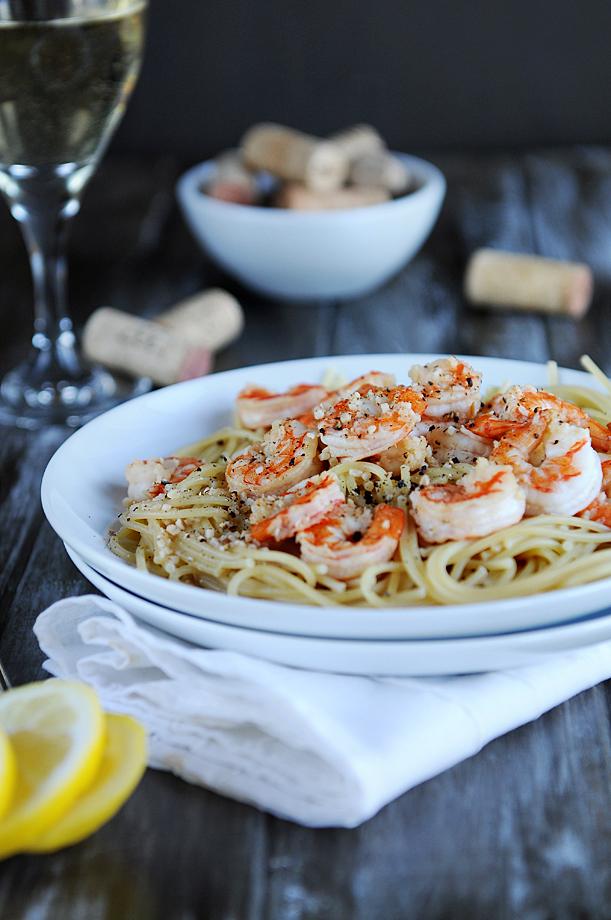 lemmon Shrimp pasta