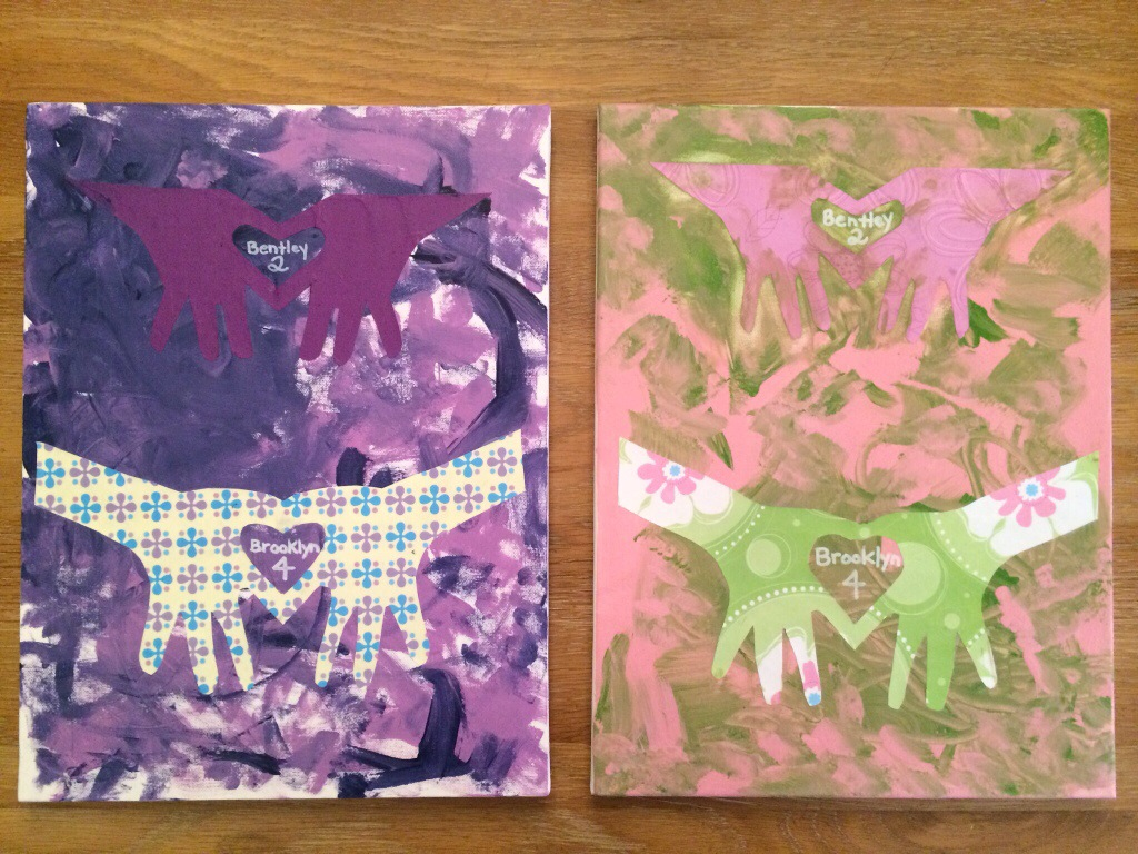 Mothers Day Hand Print Crafts