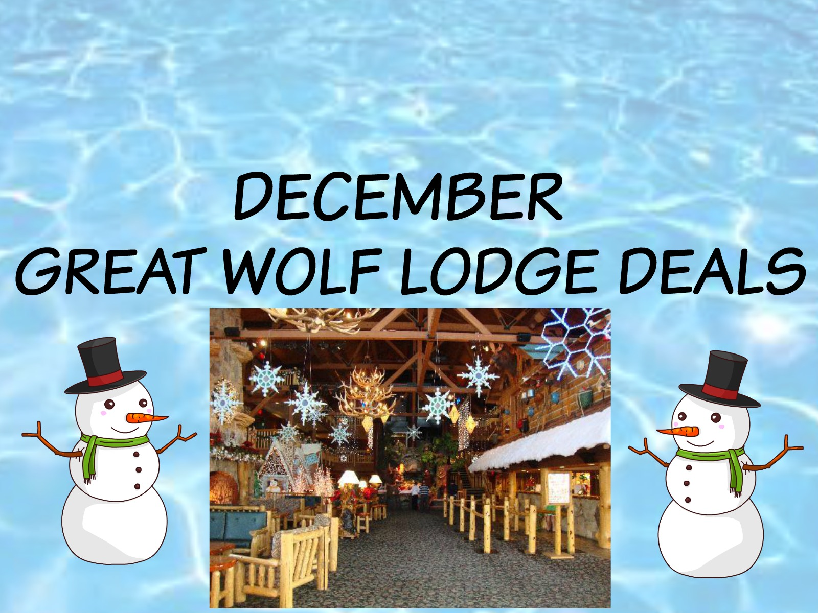 DECEMBER GREAT WOLF LODGE DEALS