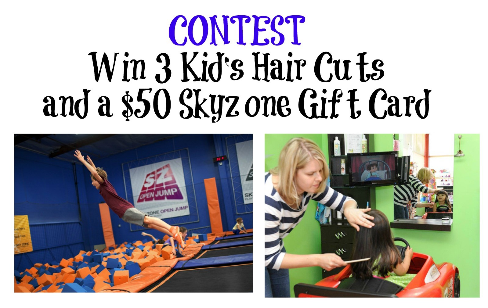 Contest: 3 FREE HAIRCUTS & SKYZONE GIFT CARD