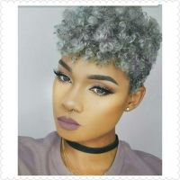 Braid Styles For Natural Gray Hair   women with gray hair ...
