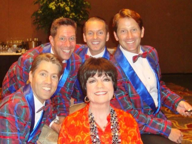 The Plaids & JoAnne Worley (photo by Margie Barron)