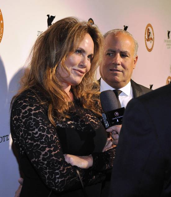 Peter Repovich (President Eagle & Badge) with Catherine Bach (Daisy Duke) - Dukes of Hazzard