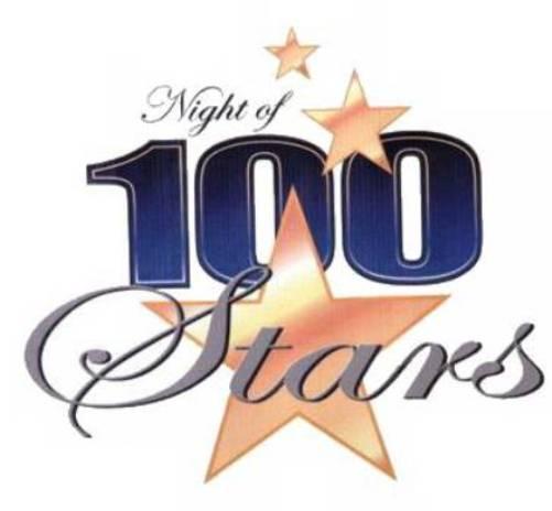 Logo for Night of 100 Stars - celebrating 24th Year
