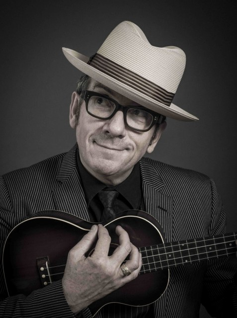 Elvis Costello - no longer a busker (photo by Andy Gotts)