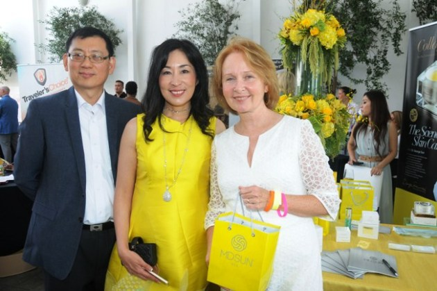 Kate Burton, Emmy Nominee, with MD Sun Skin Care