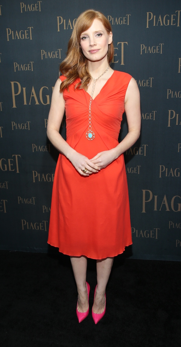Oscar Nominated Actress Jessica Chastain at Piaget Opening