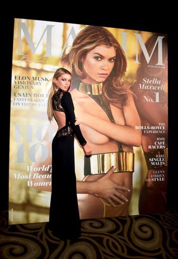 Cover Girl & Host, Stella Maxwell at Maxim 100 Party (Photo Credit - Getty Images)