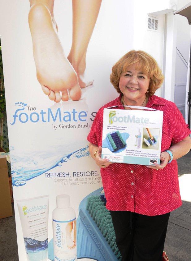 Primetime Emmy Winner - Patrika Darbo with Footmate at Emmy Suite (Photo Credit - Doris Bergman)