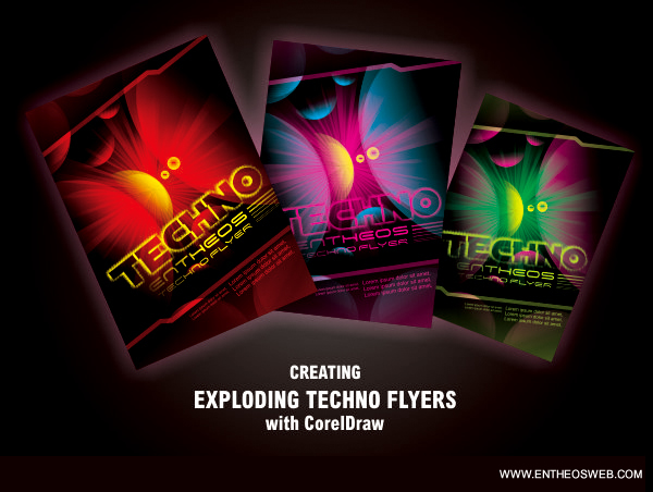 Techno Flyer Design in Corel Draw - how to make flier
